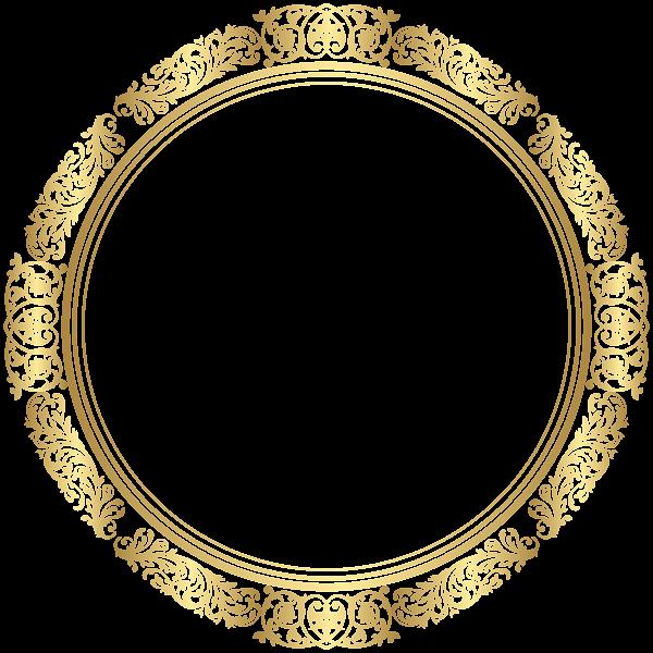 Gold Round Border Frame Transparent Image Bodas de ouro