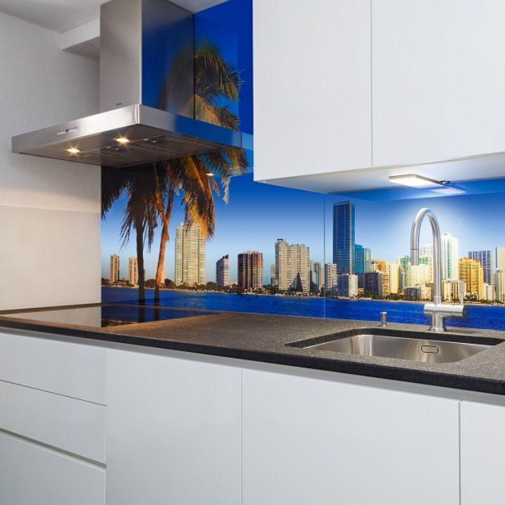 küchenrückwand aus glas bedruckt mit motiv