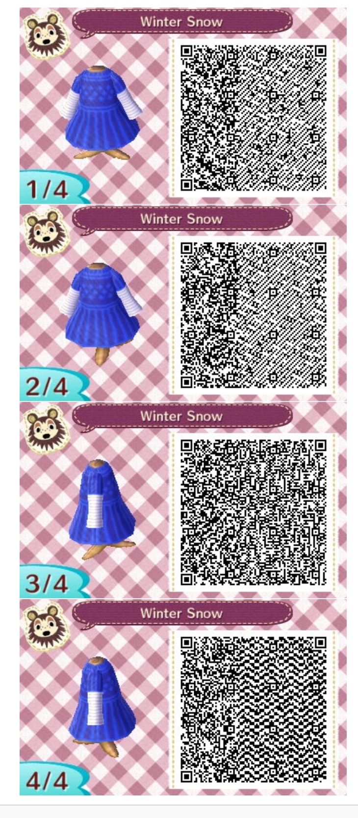 Ac Qr Ateneo Source Animal Crossing New Leaf Codes Cute Winter Dresses The