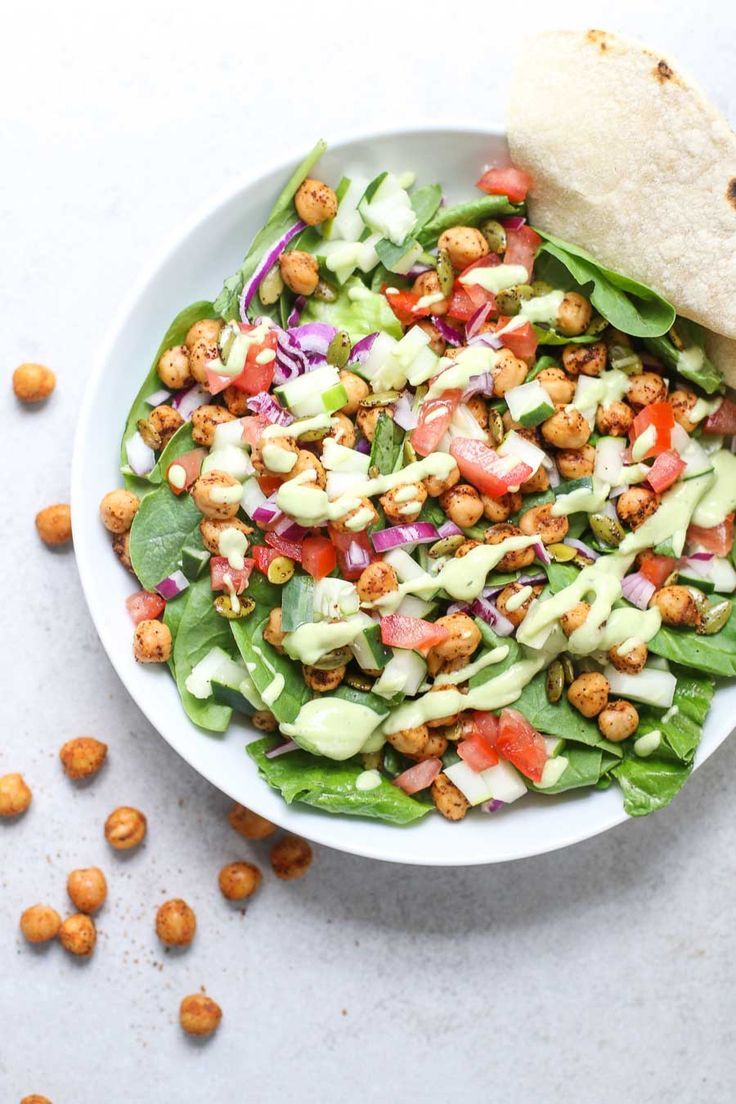 Chipotle chickpea taco salad recipe with images