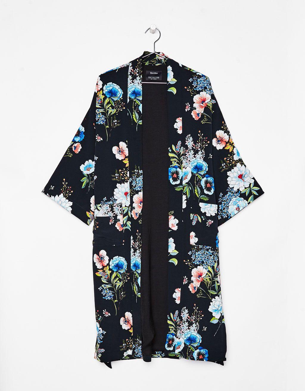 b877070df Kimono estampado flores - Bisutería - Bershka Colombia | Maxi ...