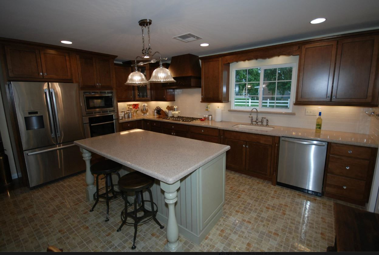 Kraftmaid Cognac On Maple And Willow With Cocoa Glaze Island Zodiaq Savory Countertops With Wat Kitchen Cabinets In Bathroom Kitchen Dining Room Maple Kitchen