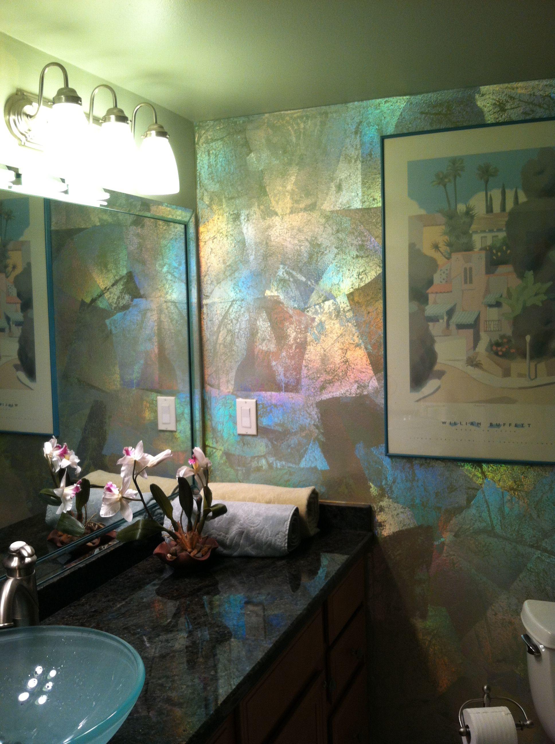 Iridescent Foil Feature Wall 6013 Bonneau In 2019