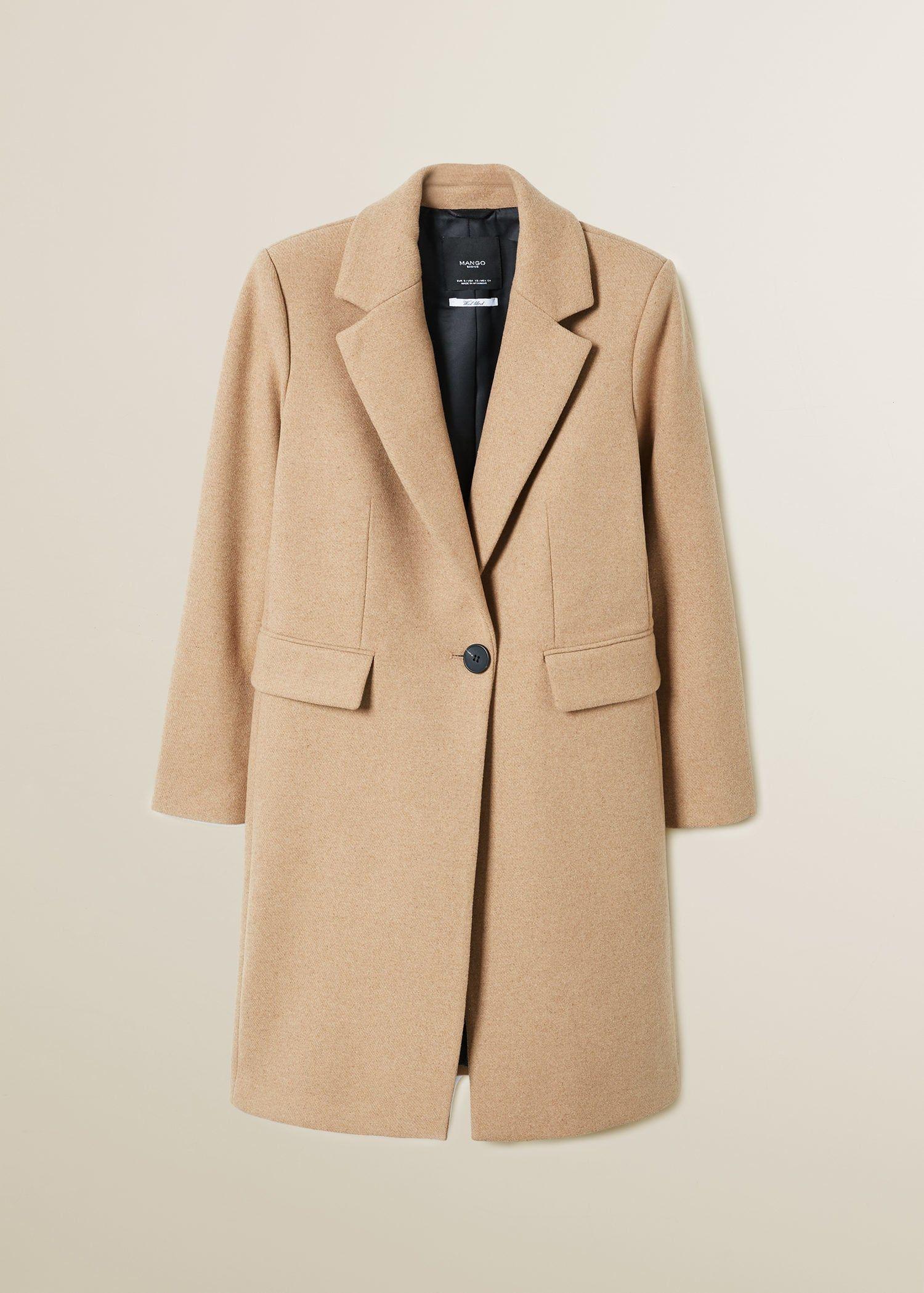 Structured wool coat Women | Wollmantel, Mango mäntel und