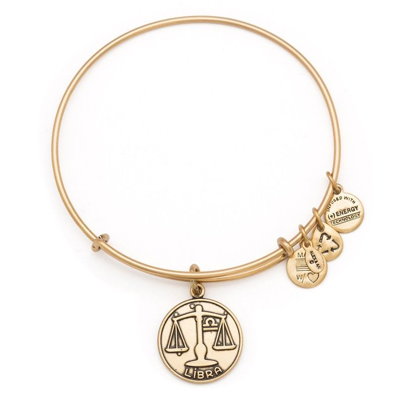 Libra Charm Bangle Alex Ani 28 Finish Russian Gold