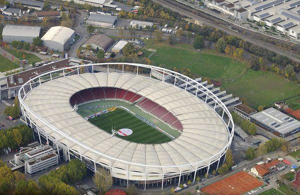 Mercedes Benz Arena Sports Stadium From Above Former Gottlieb