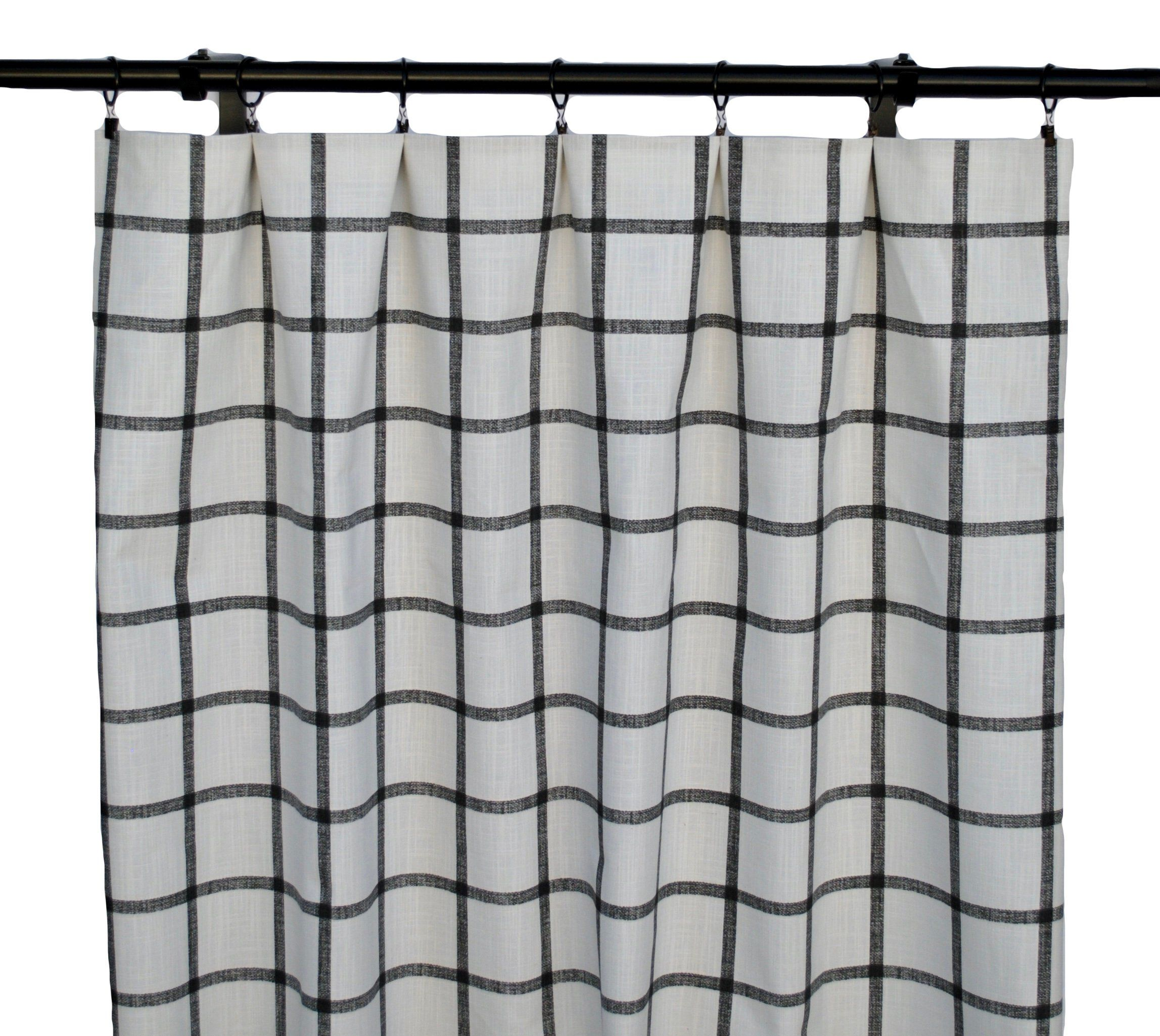 Black and white checkered Curtains, YCheckered Curtain, 2 Curtain Panels, Curtains, Home Decor, Black and white Curtain