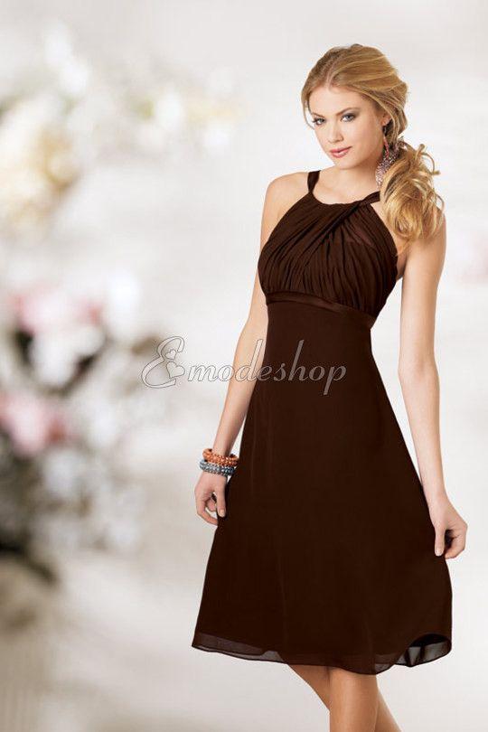 Mitte Rücken Strand legeres schlichtes Brautjungfernkleid | Style ...