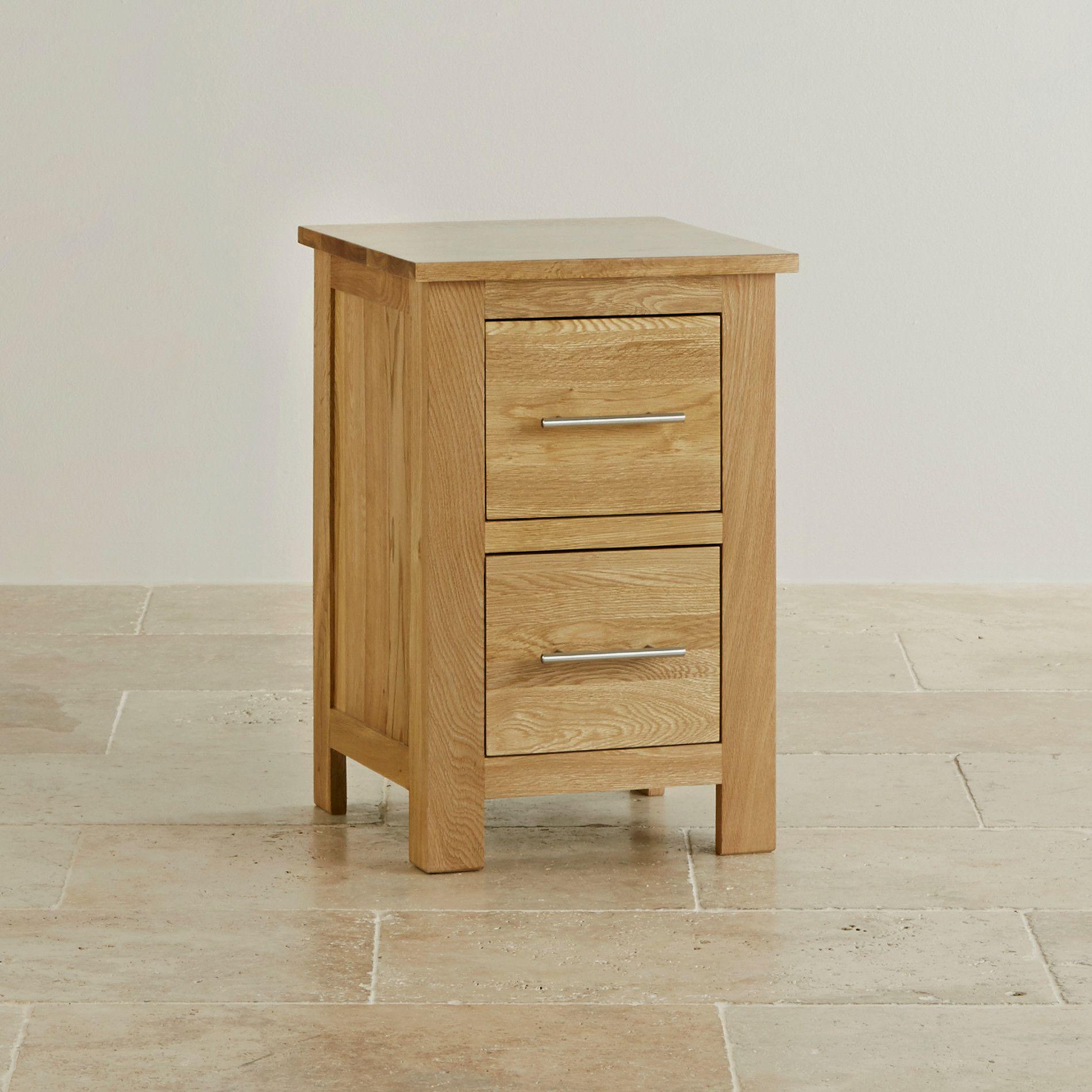 Rivermead Bedside Table In Natural Solid Oak Oak Furniture Land
