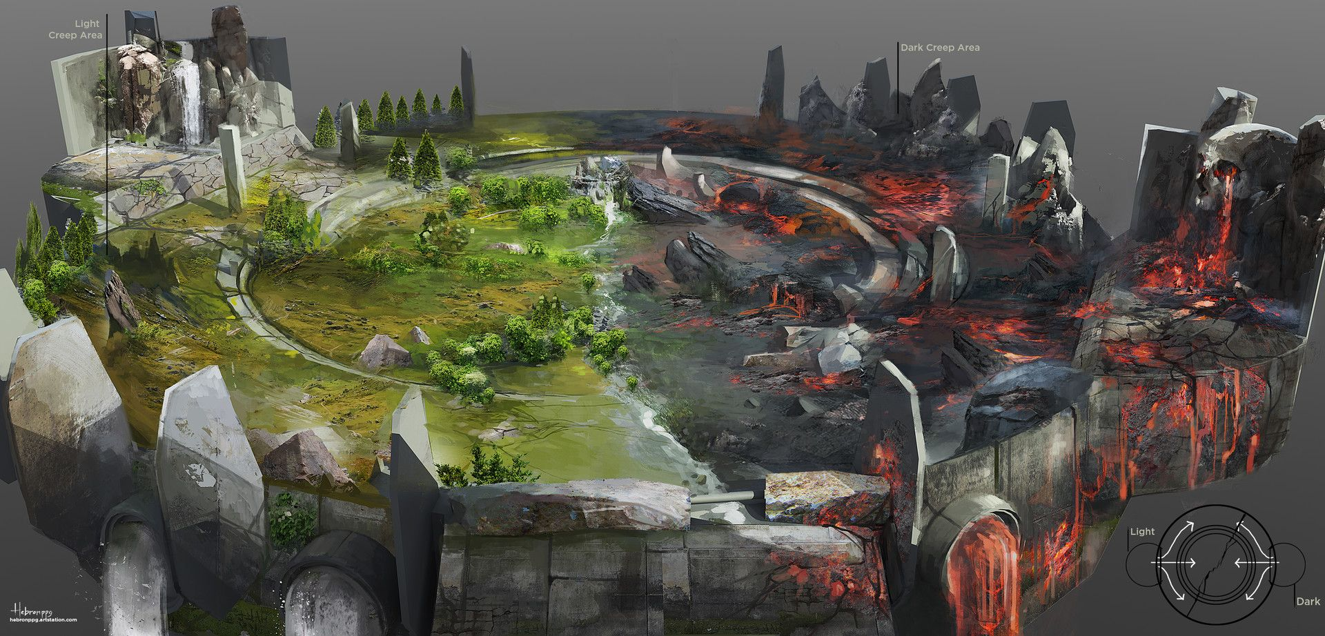 Game Level Concept Art
