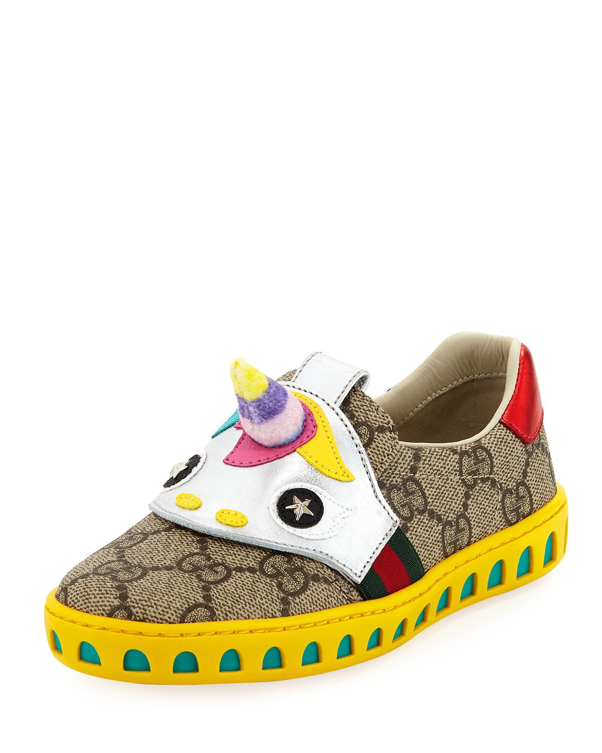 8f62c10fe GUCCI GG SUPREME CANVAS SNEAKER W/ UNICORN, KID. #gucci #shoes ...