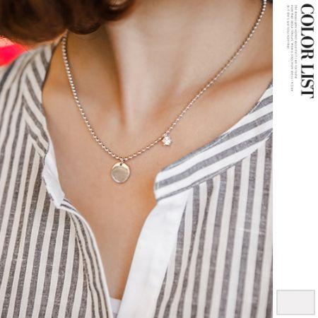 Korea womens shopping mall [JOAMOM] Cubic Zirconia Necklace / Size : FREE / Price : 10.16 USD #necklace #cubic #accessory #korea #fashion #style #fashionshop #joamom #missyfashion #missy