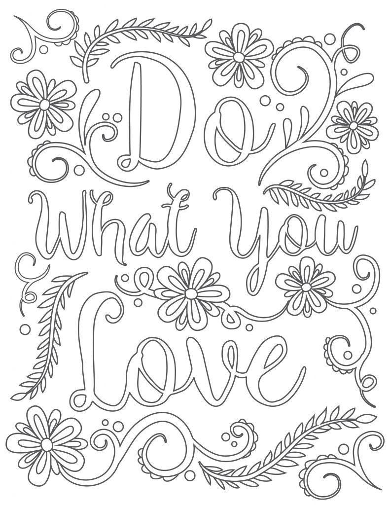 Click To Download Free Printable Adult Coloring Page Happy
