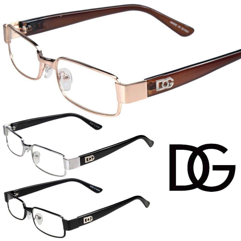 318fbcfba2a New Womens Mens DG Clear Lens Frames EyeGlasses Designer Fashion Optical RX  Cool  DGEyewear  Rectangular