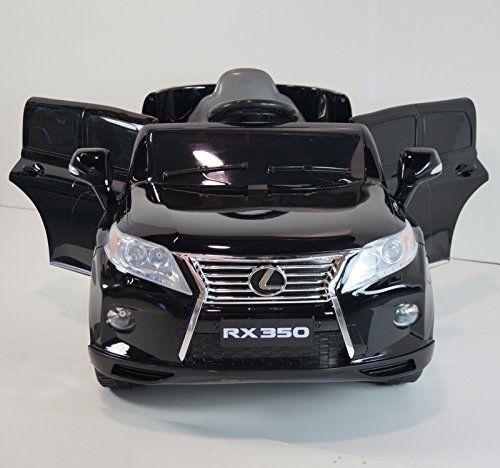New 2015 Lexus Rx350 Kids Ride On Power Wheels Battery Toy Car Remote Control Lights Music Black Kids Ride On Kids Ride On Toys Power Wheels