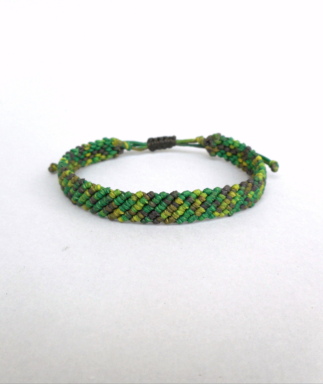 women/'s bracelet minimalist bracelet surfer bracelet boho bracelet Green bracelet men/'s bracelet friendship bracelet vintage bracelet