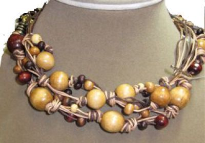 Michaels Projects (wood beads and cotton cording)