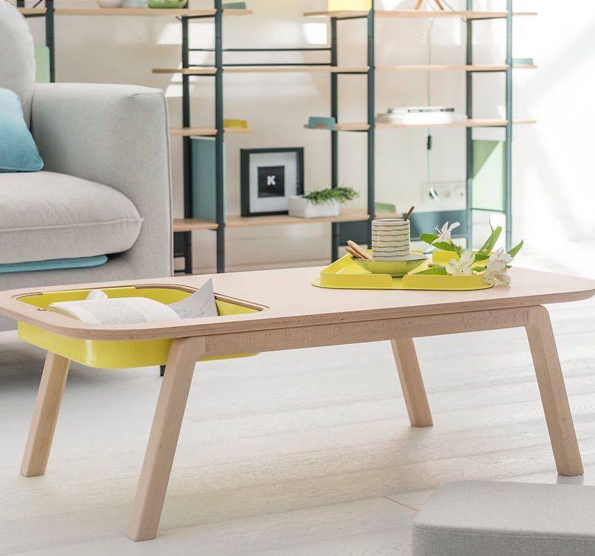 Table Basse Thomas Florian Avec Casier Et Coussin Camif Edition Camif Fr Table Basse Table Et Mobilier De Salon