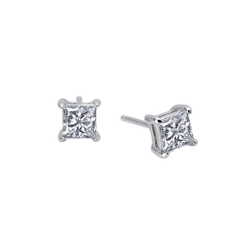 Princess Cut 1Ct Stud Earrings - Lafonn E0113CLP00