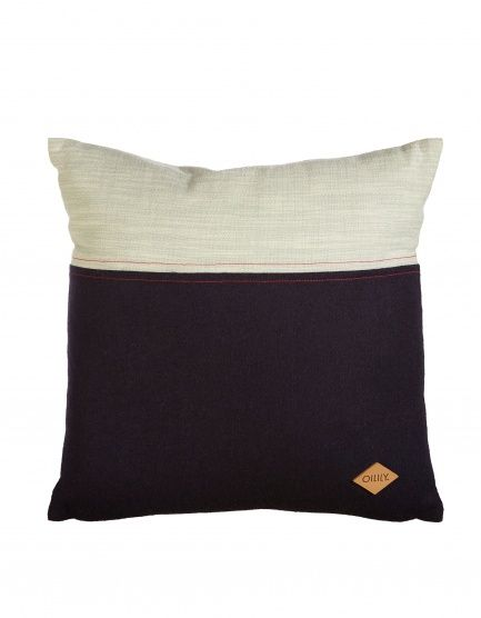 This Oilily decorative cushion features a colour combination of dark blue felt and chambray in light mint green with a lovely dark blue stitching. Finished with leather Oilily-label. The 45 x 45 cm cushion comes with a polyester filling.- Combination of felt and chambray- 100% polyester filling- Spot clean only- Not suitable for tumble drying