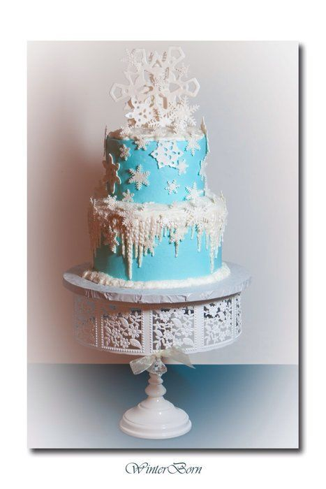 Winter Wonderland Snowflake Birthday Cake Winter Wonderland Sweet
