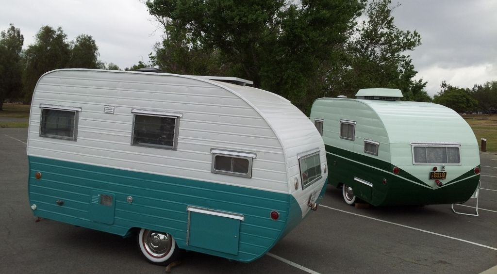 2 rainbow trailers we restored from the frame up. 1956 and 1954 ...