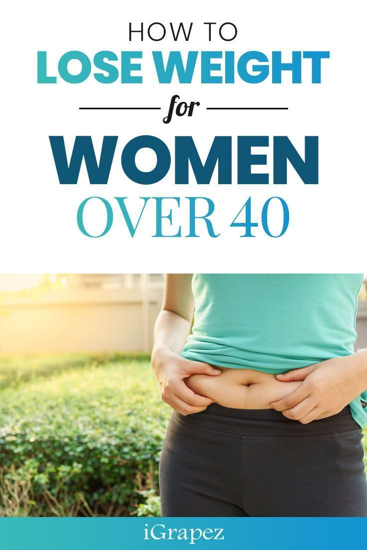 Learn how to lose weight for women over 40 and how you can keep the weight off for good. #loseweight...