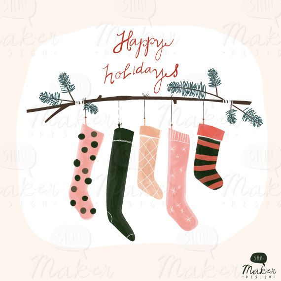 11+ Christmas stockings hanging clipart info