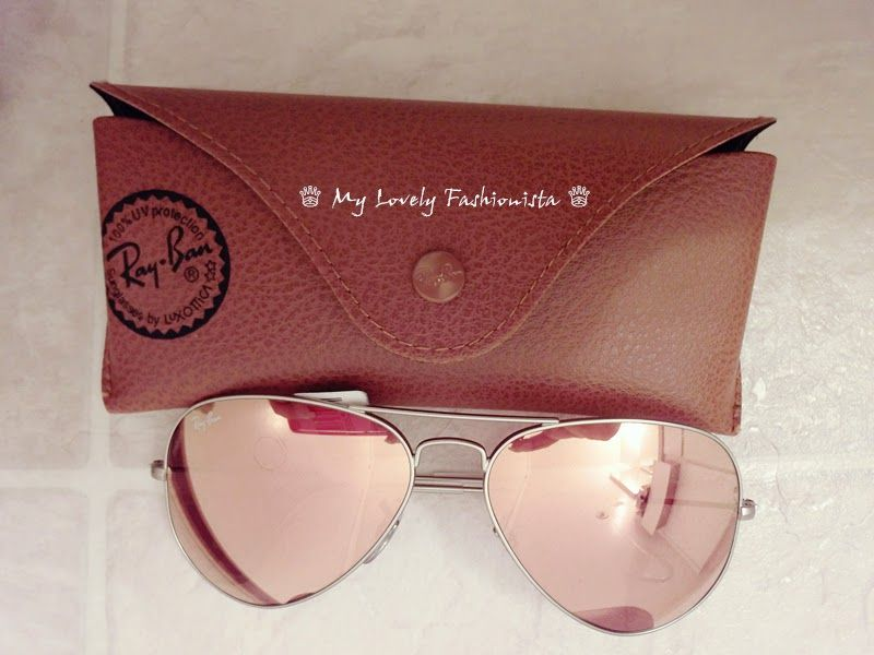 My Lovely Fashionista ♕  Ray-Ban Original Aviator 58mm Sunglasses, Mirror  Lens, Brown Pink d895fb82a1