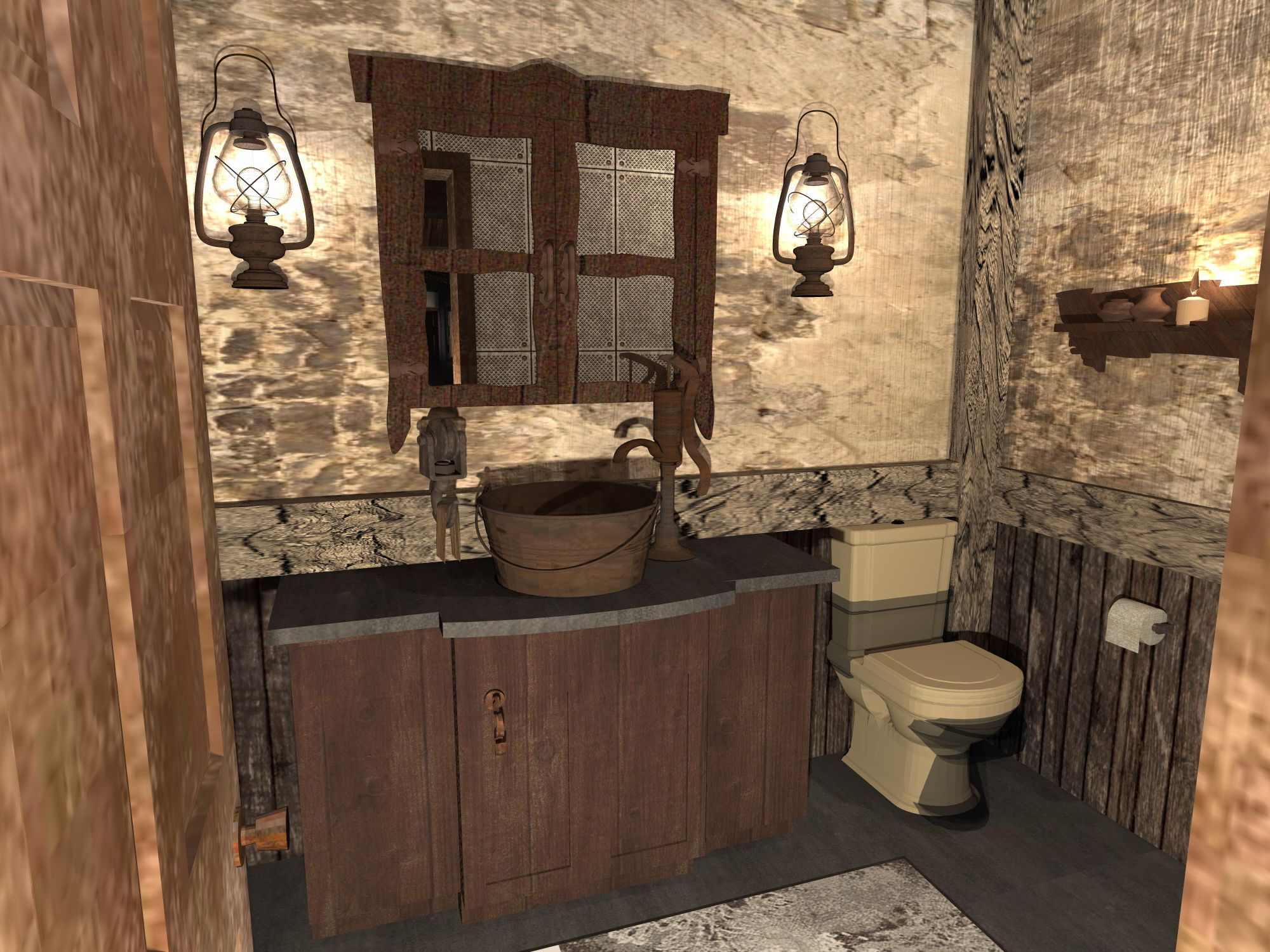 Powder room design concept