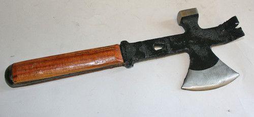 Old Roofing Hatchet Hammer Hatchet Axe Nail Puller Roofing