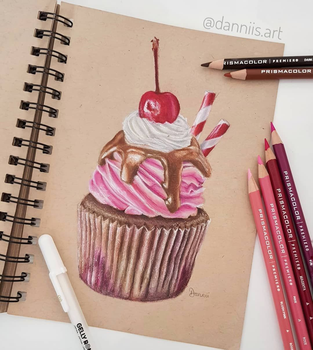 New The 10 Best Home Decor With Pictures Here S The Finished Drawing Of My Cupcake Color Pencil Illustration Color Pencil Art Color Pencil Drawing