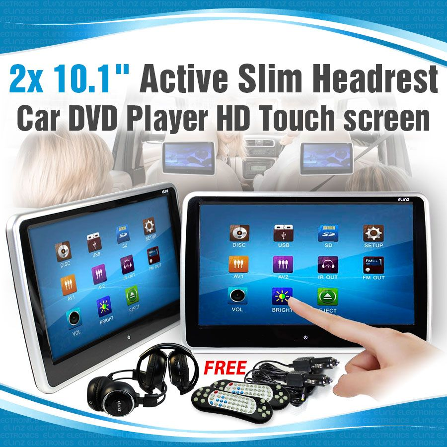 10 1 inch car headrest dvd player hd touch screen monitor elinz