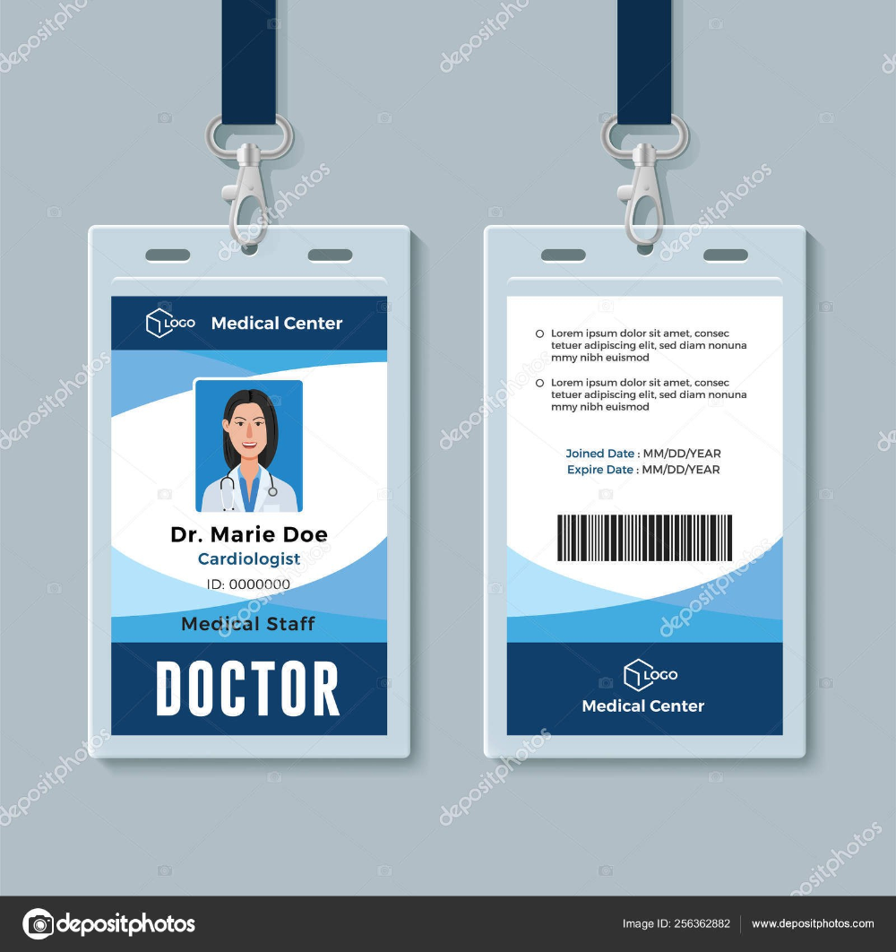 Doctor Id Badge Medical Identity Card Design Template Stock Intended For Doctor Id Card Template 10 Prof Identity Card Design Id Card Template Card Design
