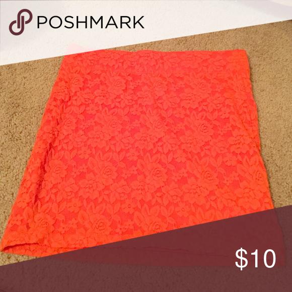 Orange PAC sun mini skirt Short body con mini skirt. Pacsun Nellie brand. PacSun Skirts Mini