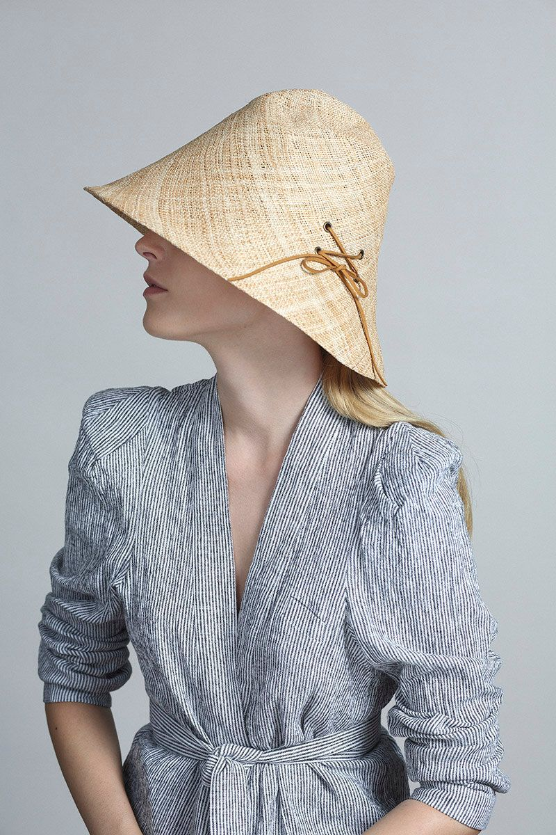 c93cf1b8fe43e8 Yael Cohen, a fashion designer based in Israel, has created a line of  modern straw hats that are perfect for summer, like this modern light  colored straw ...