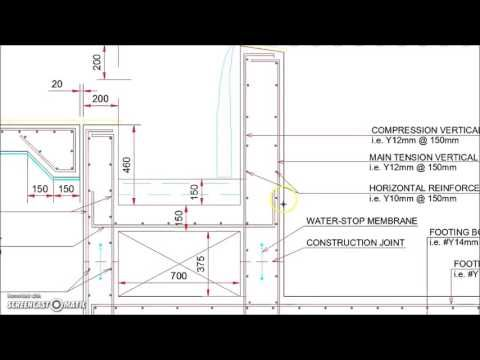 Infinity Type Swimming Pool Retaining Wall With Catch Pool Detail In 2020 Pool Retaining Wall Swimming Pool Construction Pool Construction
