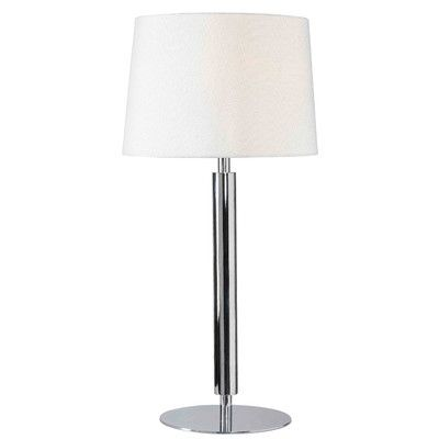 Wildon Home Milano 32 H Table Lamp With Empire Shade Chrome Table Lamp Table Lamp Lamp