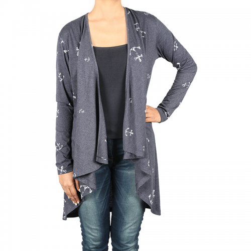 This long open cardigan is perfect for a casual girls day out!