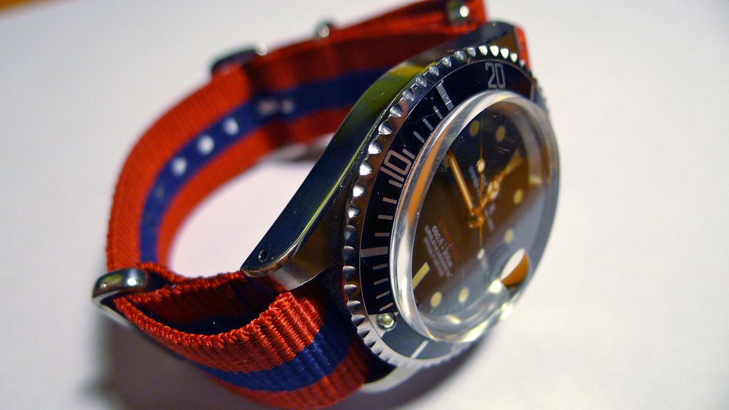 Vintage Rolex on a Barca NATO strap from Straply