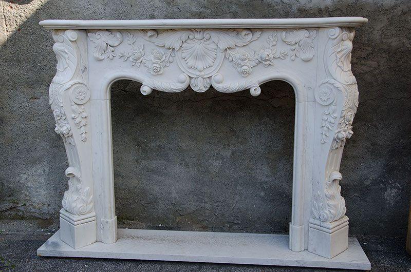 Camino In Marmo Bianco : Camino in marmo bianca kaminfassade caminetto stilkamin