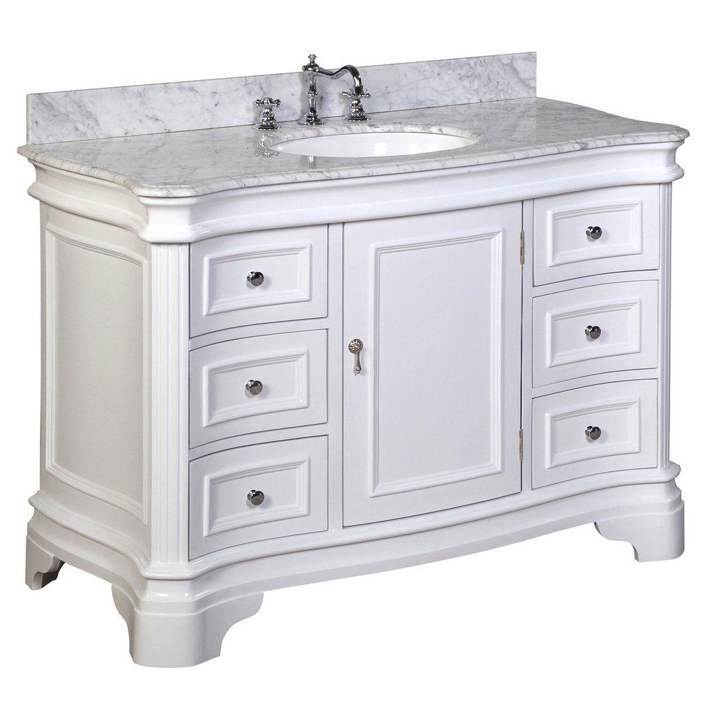 Katherine 48 Inch Vanity With Carrara Marble Top 48 Inch Bathroom Vanity Single Bathroom Vanity 72 Inch Bathroom Vanity