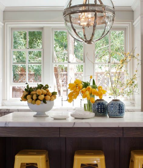 Bungalow Interior Design Kitchen: Livingston Photo . Great Yellows And What A Nice Chunk Of