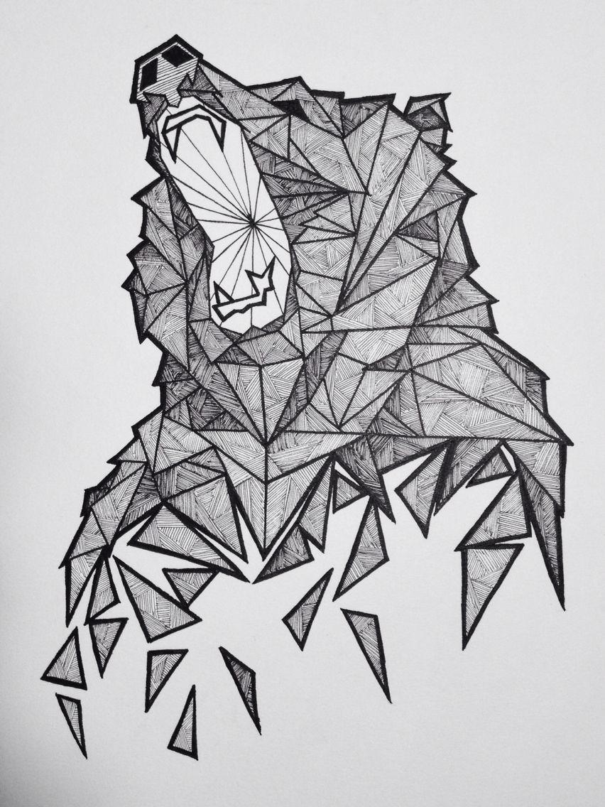 Geometric Bear Sketch More Tattoo Pinterest Dessin Dessin