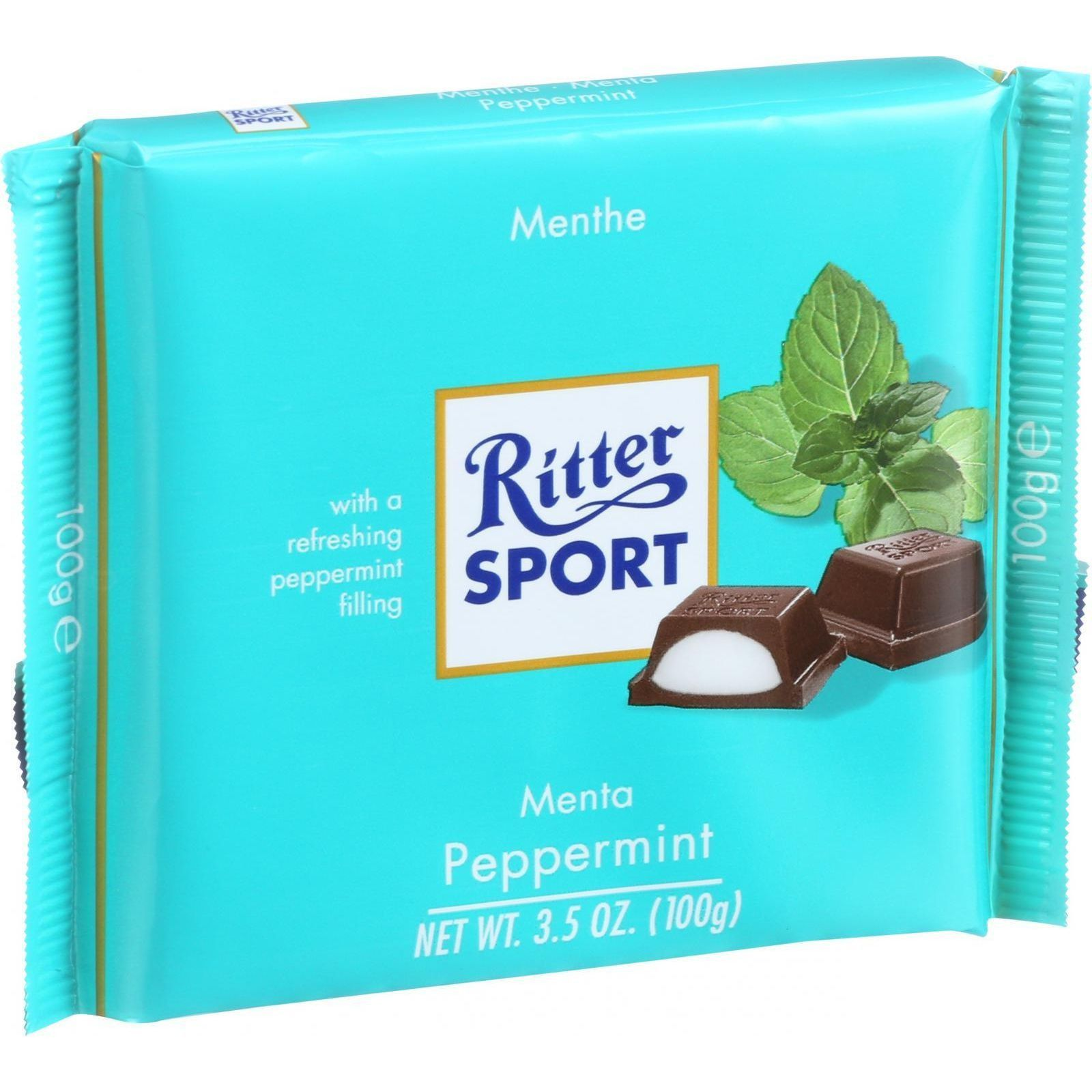 Ritter Sport Chocolate Bar Dark Chocolate Peppermint