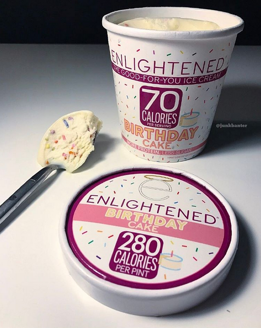 Enlightened Birthday Cake Ice Cream