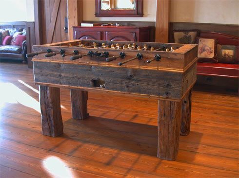 Aspenrusticbilliardscom Custom Rustic Billiard Table And Log Pool - Custom foosball table