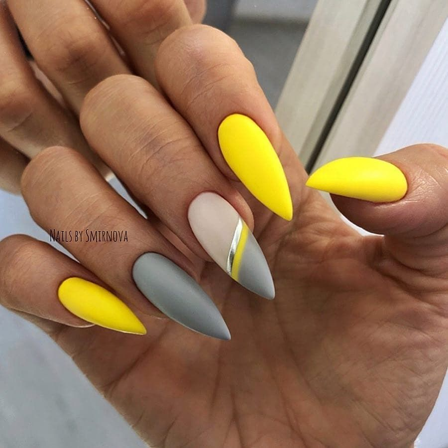 28 Cute Summer Yellow Nails Design Easy to Copy in 2019
