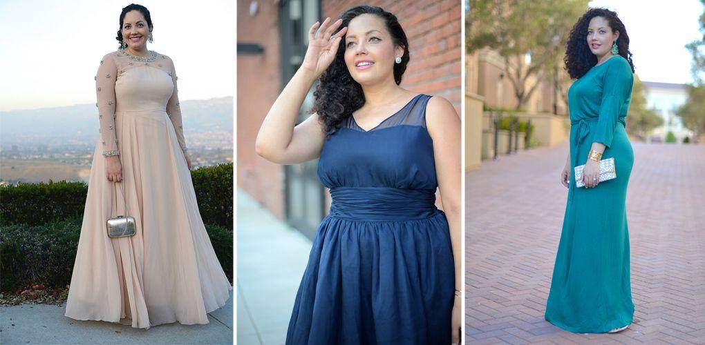 Abendkleider für Mollige: In diesen Glamour-Outfits sehen ...