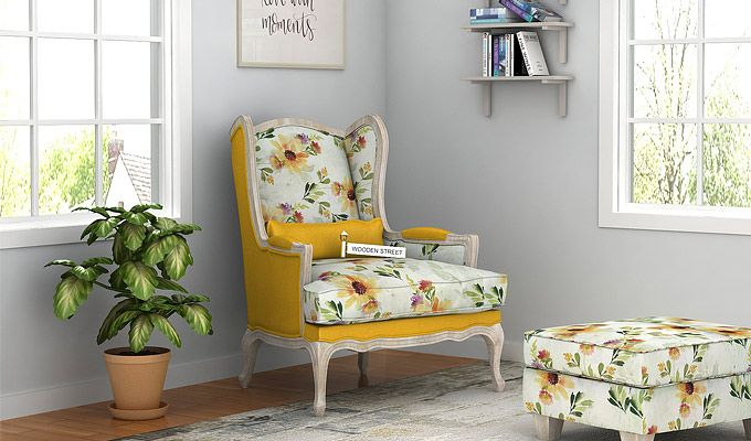 Enjoyable Krystal Floral Lounge Chair With Dazzling Yellow Blush Is An Squirreltailoven Fun Painted Chair Ideas Images Squirreltailovenorg